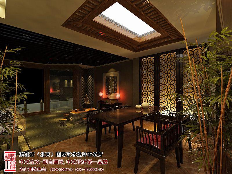 古雅的室内设计不仅造型美观,而且亲近自然,舒适明快,无形中增加了