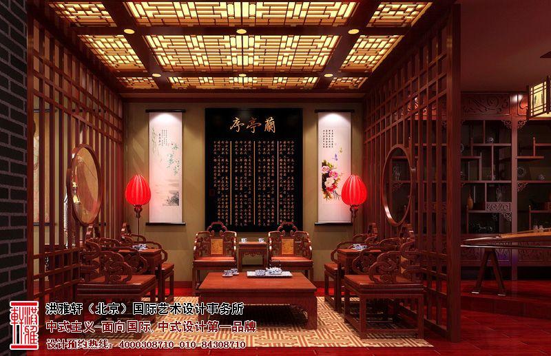 中式展厅店面装修图片