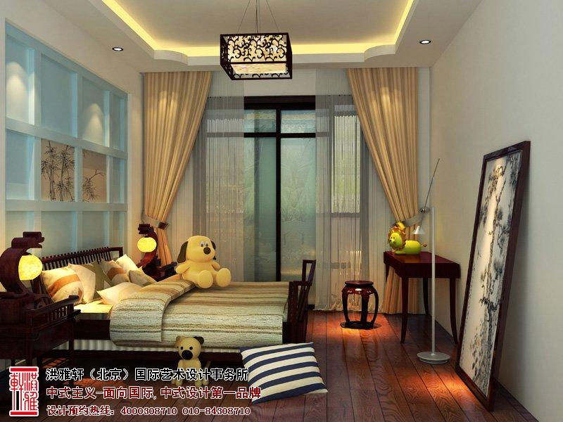 桌面新中式儿童房装修风格 儿童房装修效果图男孩 儿童房