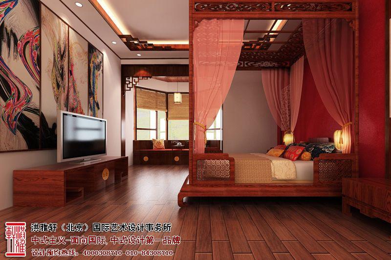 中式装修卧室效果图