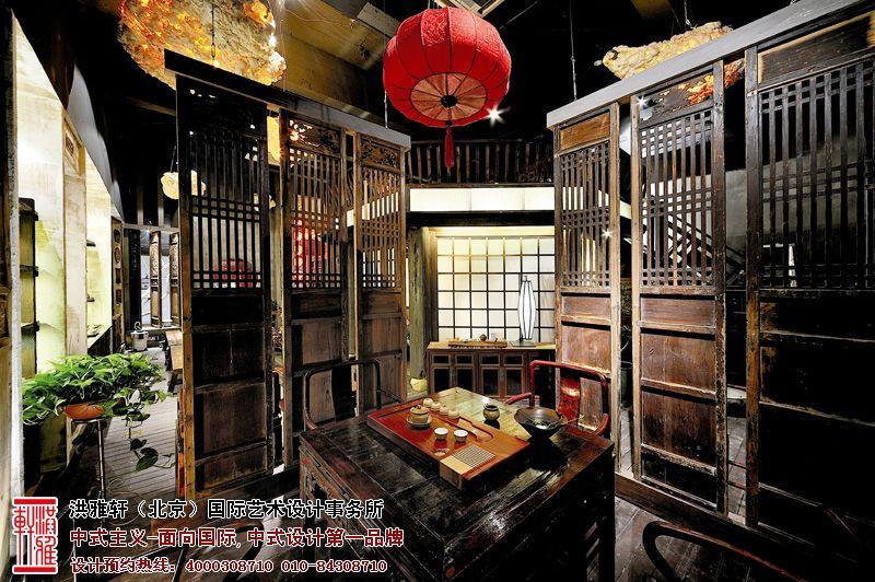 茶樓中式裝修設計,體會莊重典雅的休閑空間