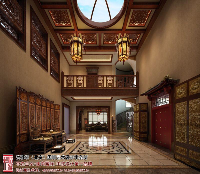 碧水庄园别墅中式设计
