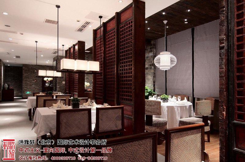 中式餐厅雅座装修风格