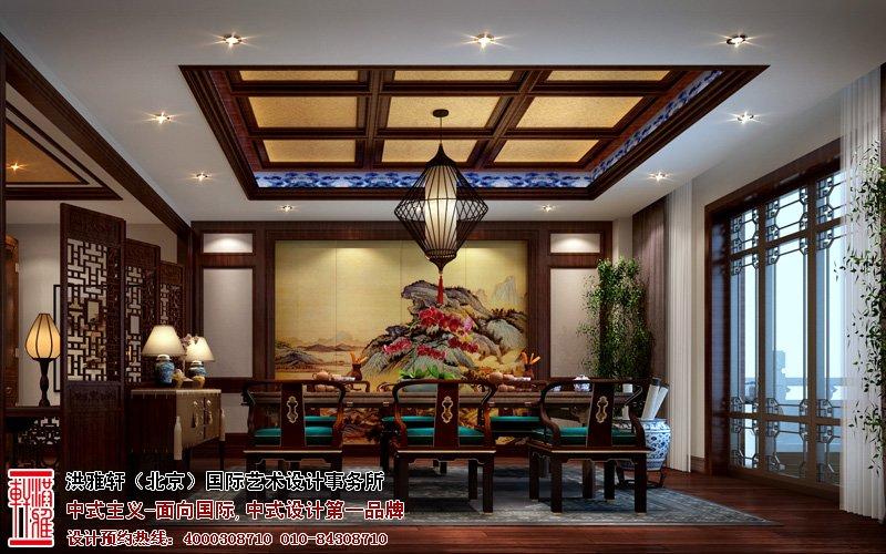 邯郸售楼处中式装修图片-茶室