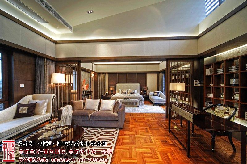 样板间中式设计客厅效果图