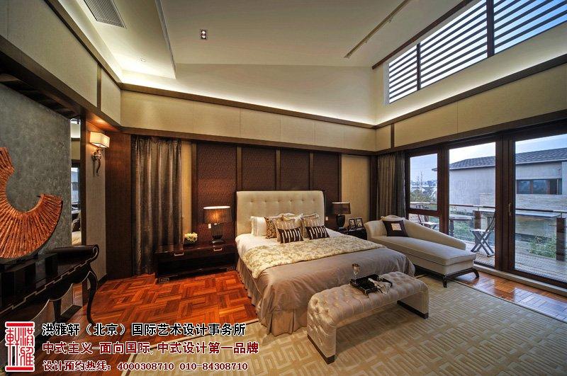 样板间中式设计卧室效果图
