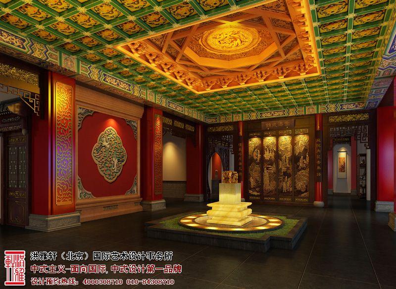 新密会所大厅中式装修图片