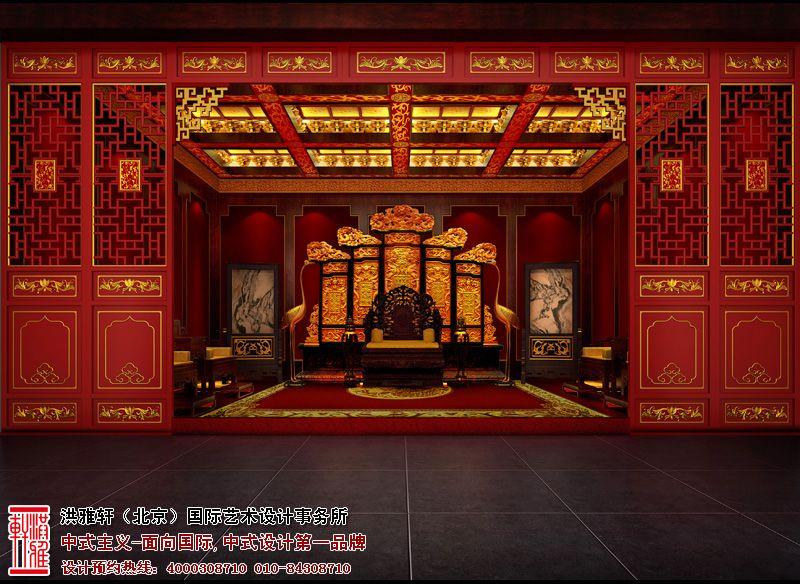 会所宝座厅中式设计图片