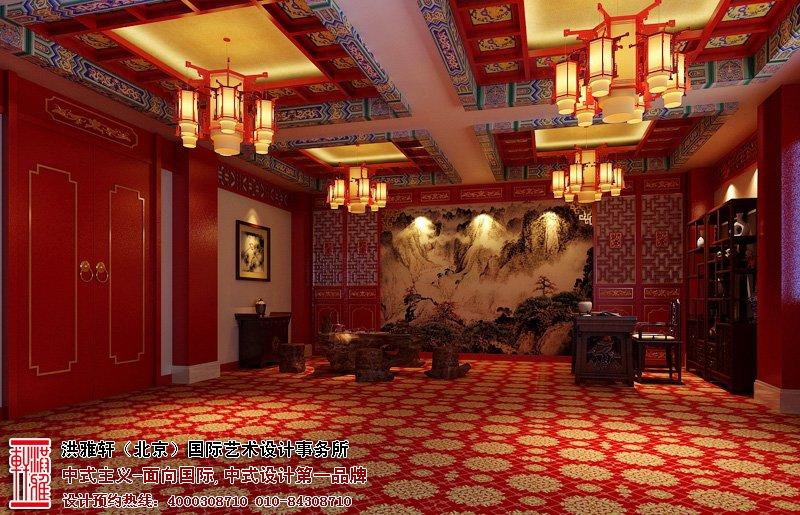 会所中式装修图片-休闲娱乐室