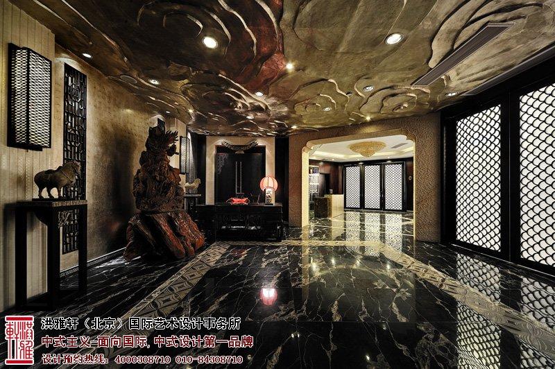 酒店中式设计大厅效果图