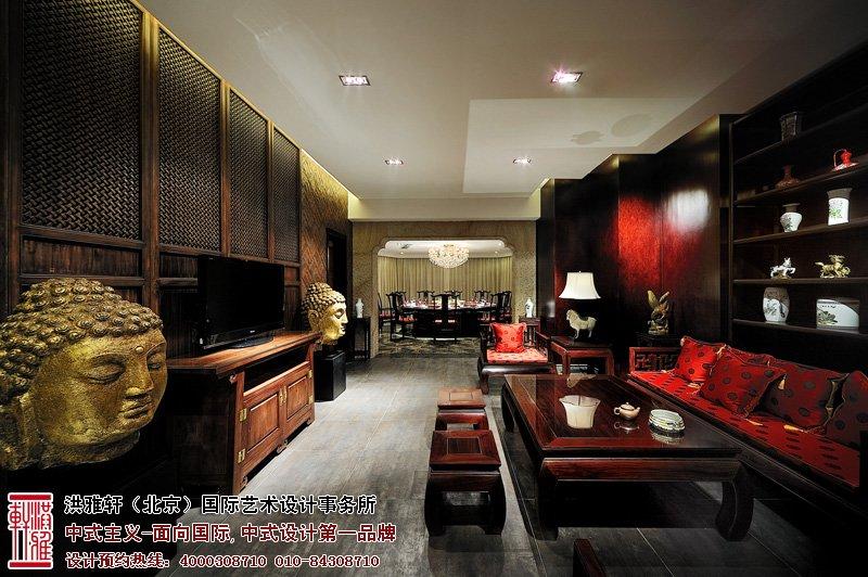 酒店室内中式设计效果图