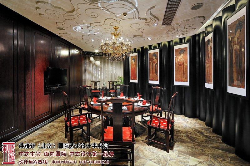 酒店中式设计餐厅效果图