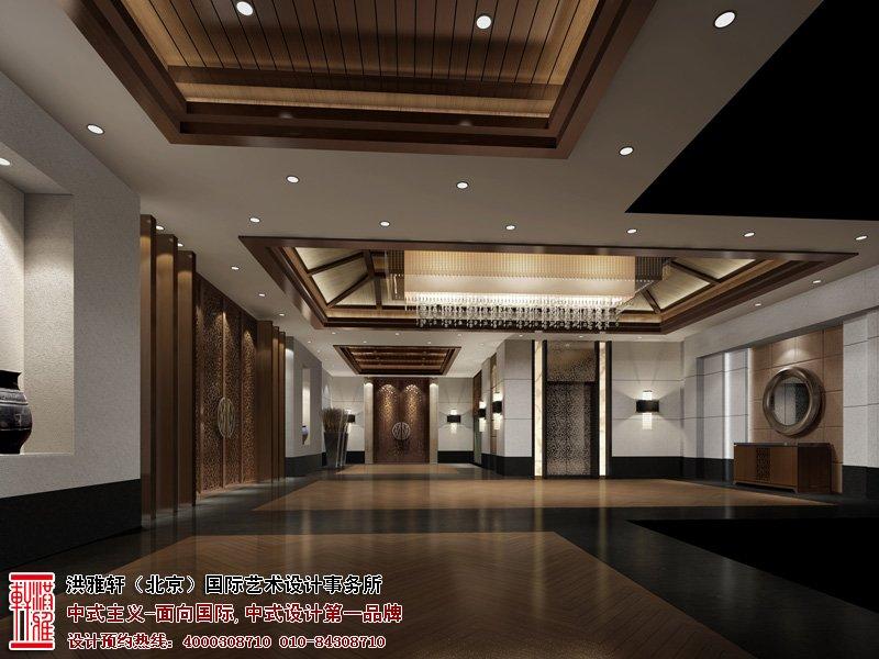酒店大厅中式设计效果图