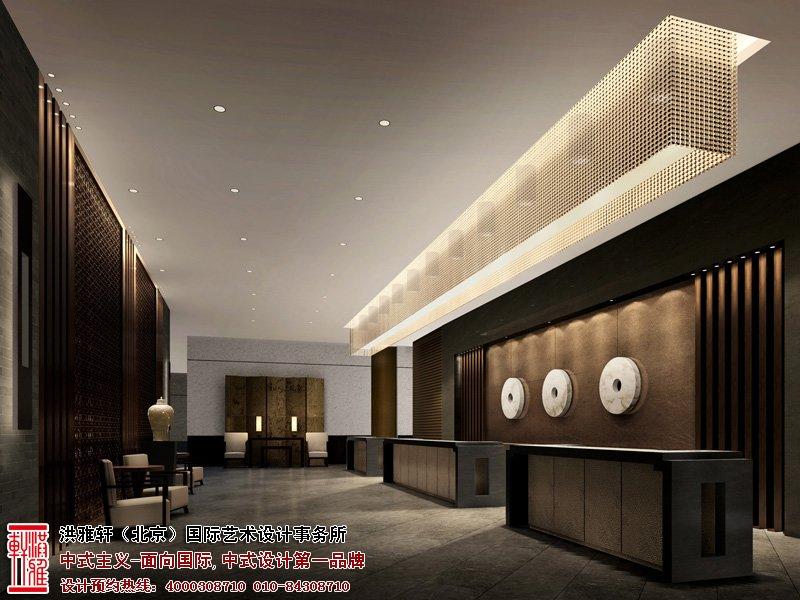 酒店吧台中式设计效果图