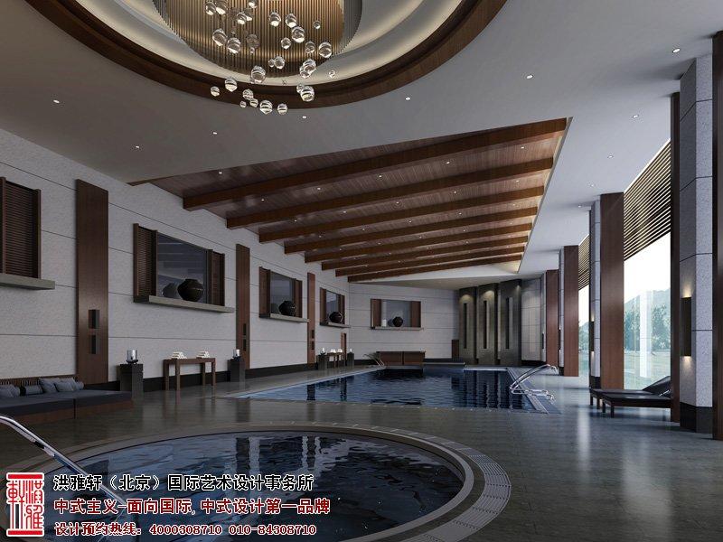 酒店中式设计游泳池图片