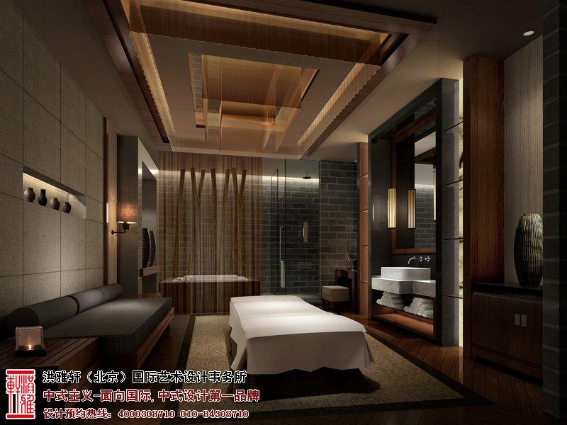 酒店中式设计水疗室效果图