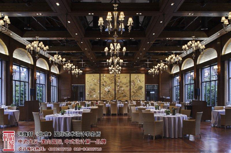 会所中式设计餐厅图