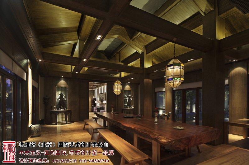 会所大厅中式设计效果图