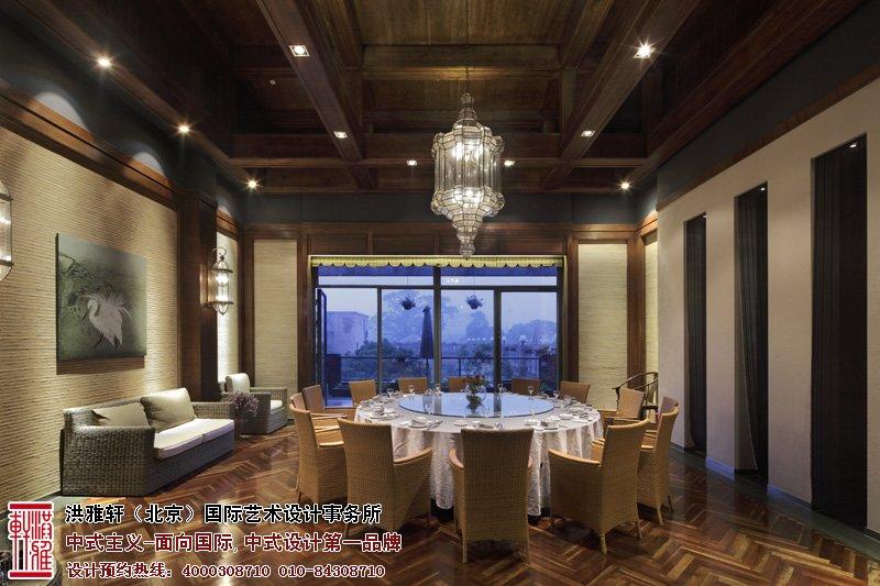 会所中式风格的现代餐厅