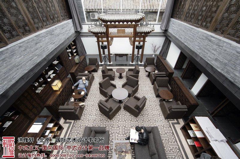 酒店中式装修大厅效果图