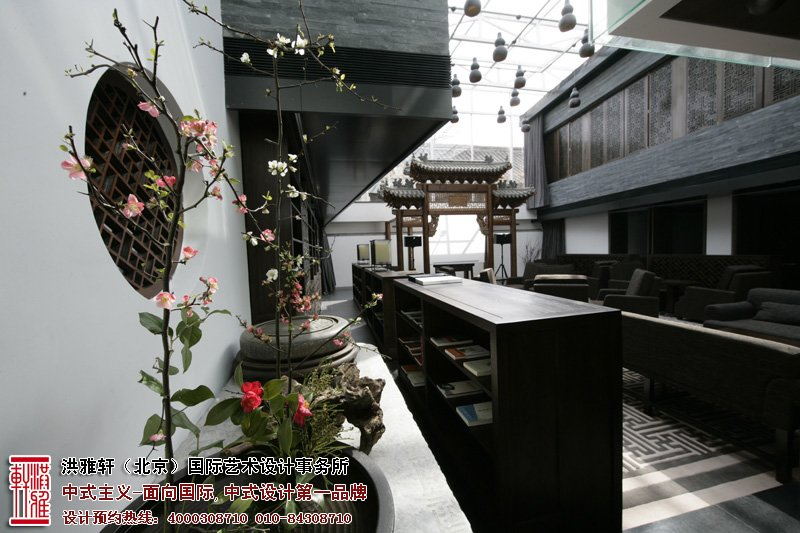 酒店中式装修走廊图