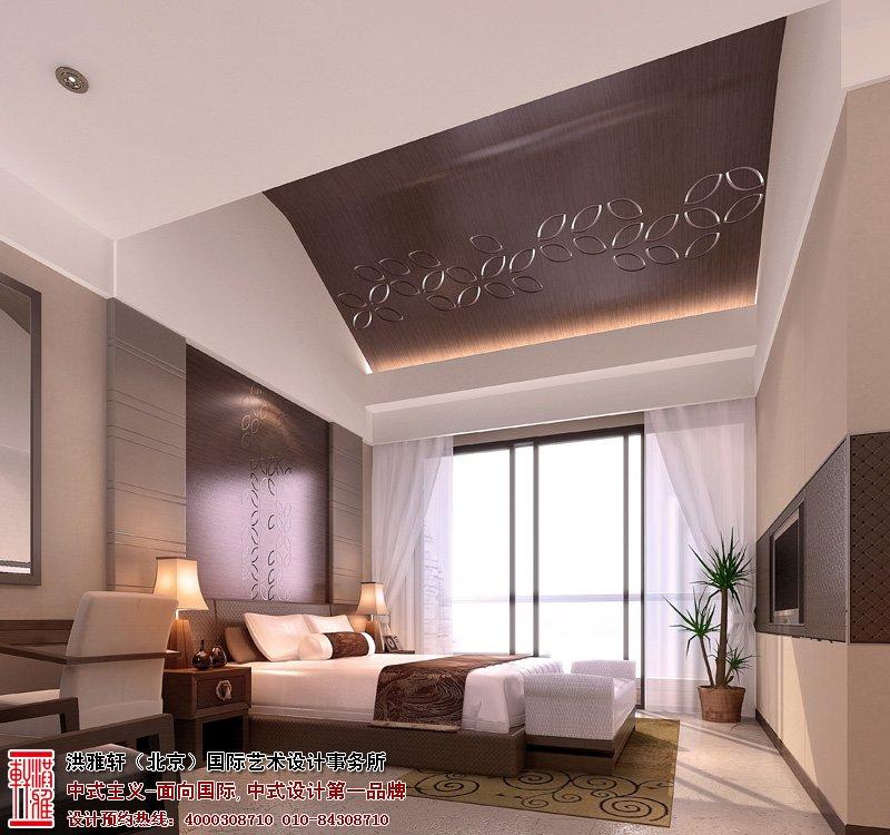 样板间中式装修卧室效果图
