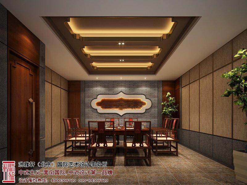 郑州酒店餐厅中式设计包房效果图