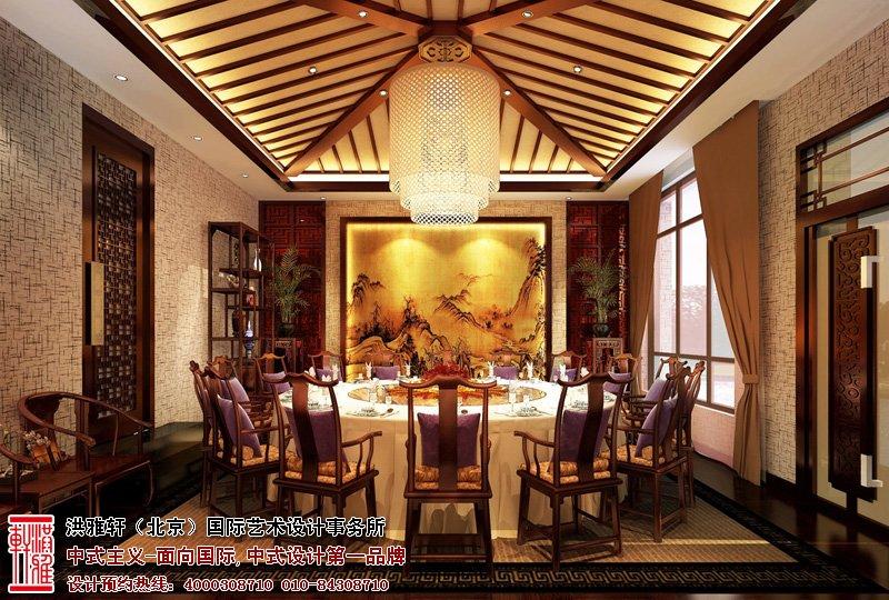 会所餐厅中式设计,采用了古朴的红木桌椅,让整个餐厅感到温馨而舒适