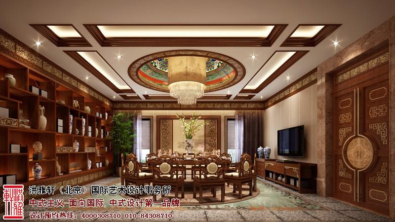别墅餐厅中式装修图片