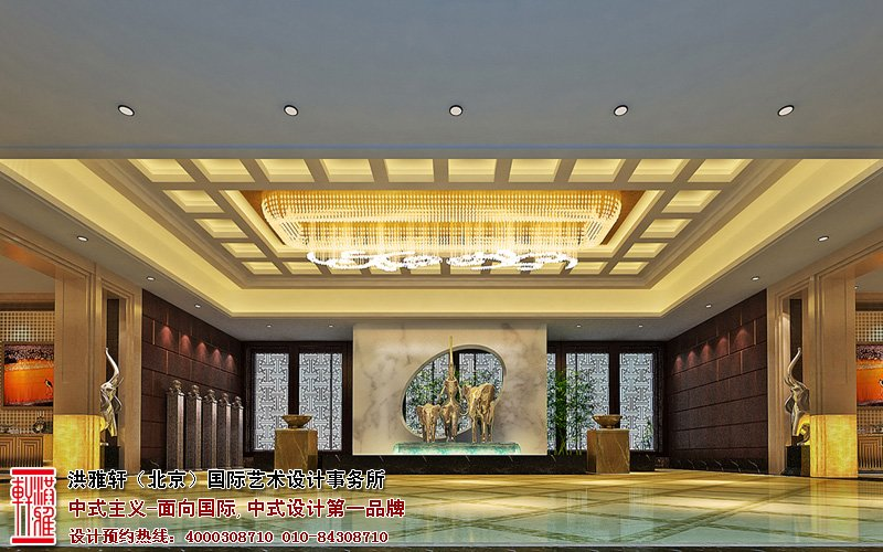 中式风格酒店宾馆设计,凸显大气高雅的休闲韵味