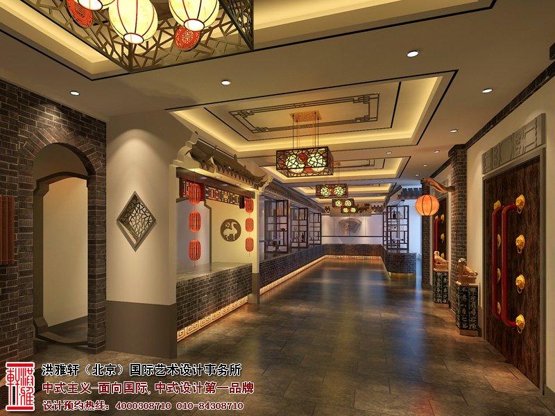 曲阜酒店走廊中式设计图片