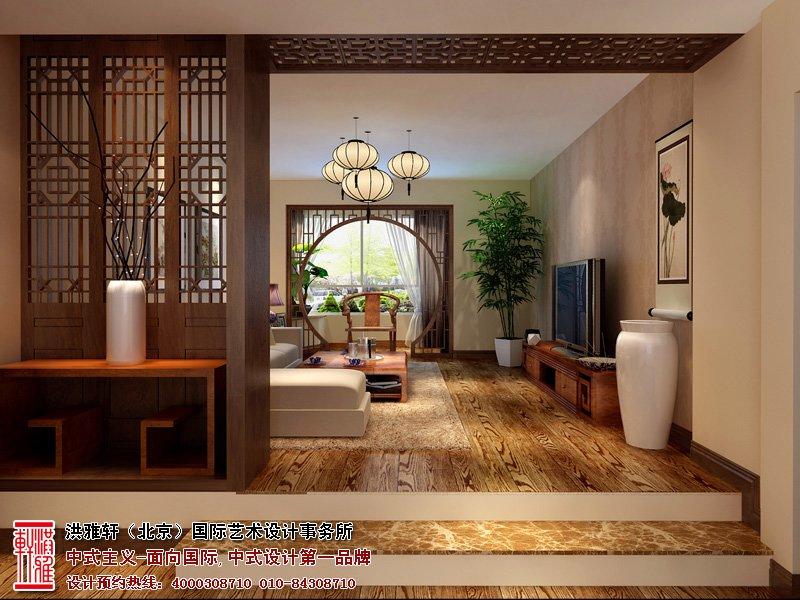 中式客厅装修效果图2014图片
