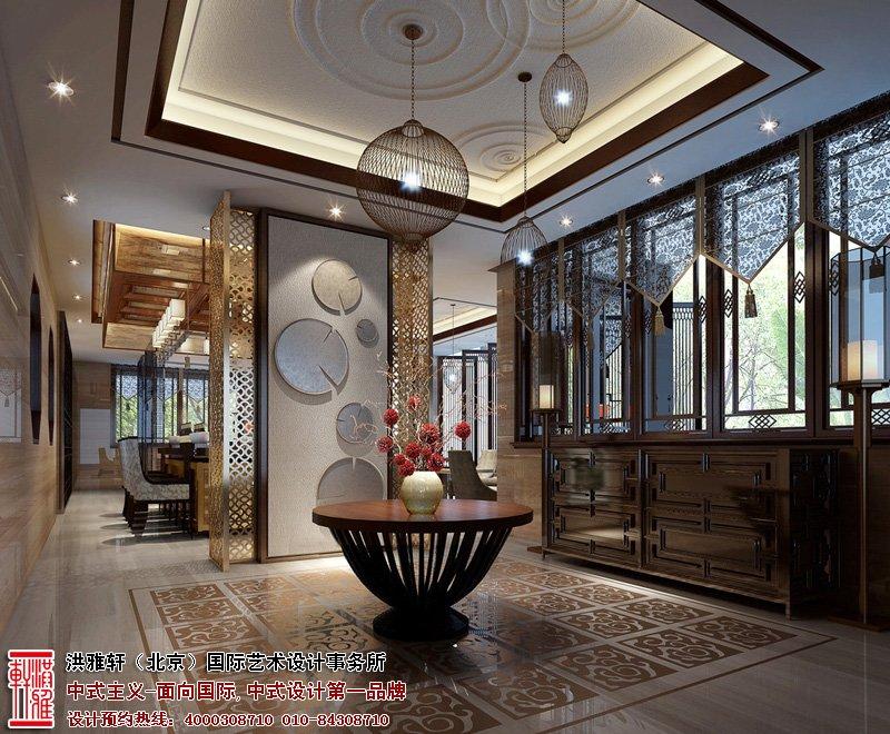 北京湾中式别墅装修图片