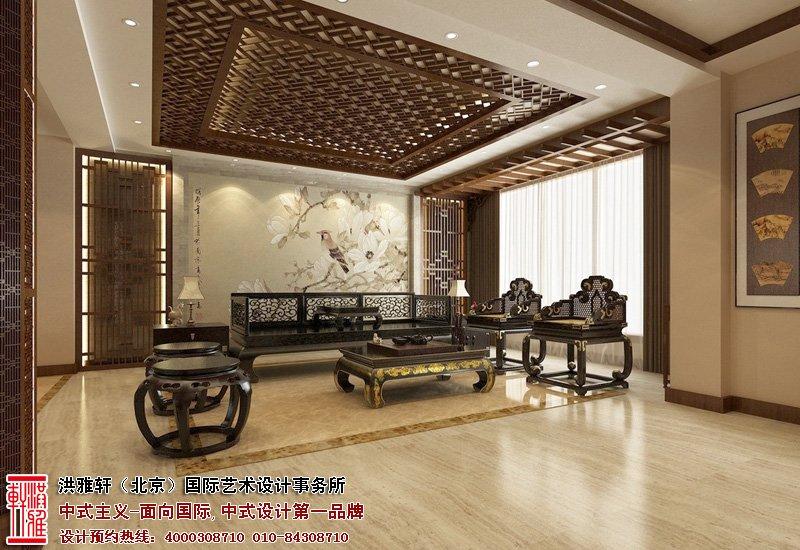 北京湾别墅中堂中式装修图片