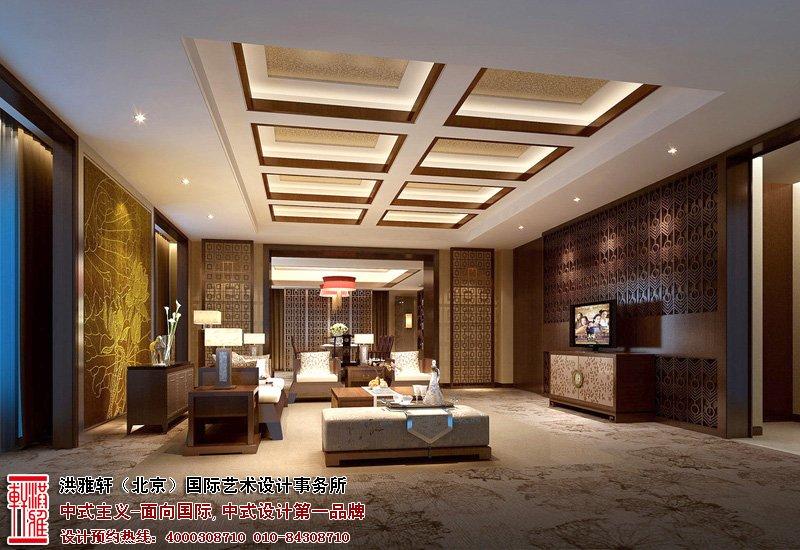 别墅客厅中式装修效果图