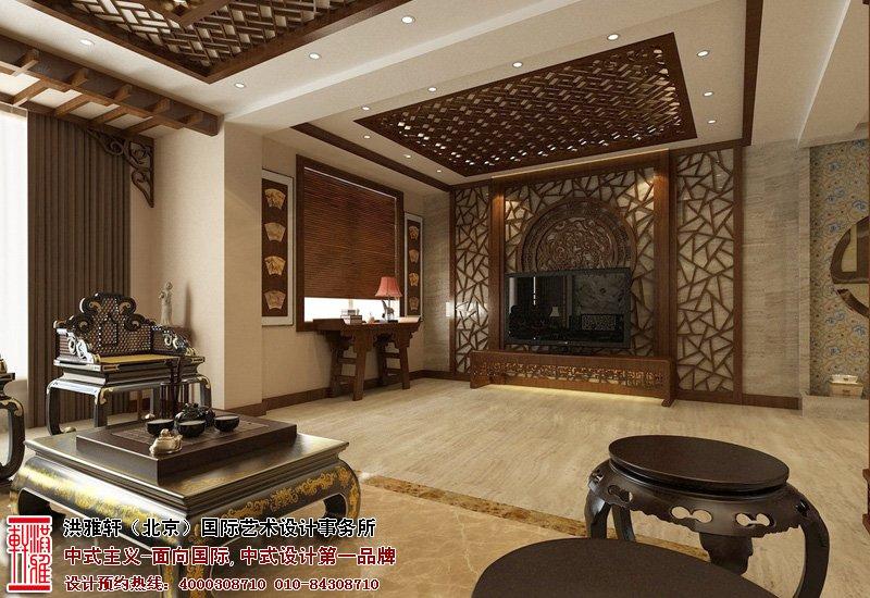 北京湾别墅中式装修效果图