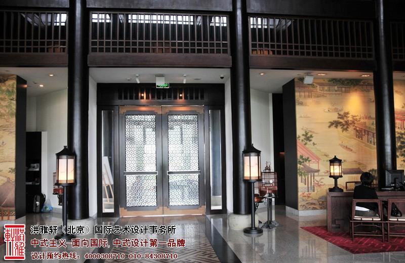 酒店大厅中式设计图