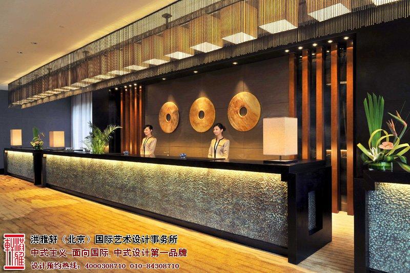 酒店前台中式装修图片