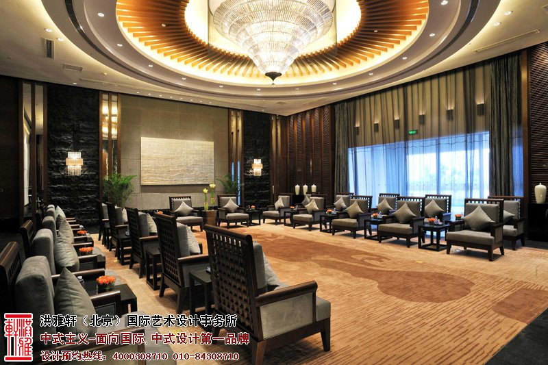 酒店会议室中式装修图片