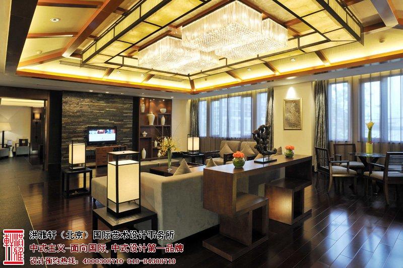 酒店客厅中式装修图片
