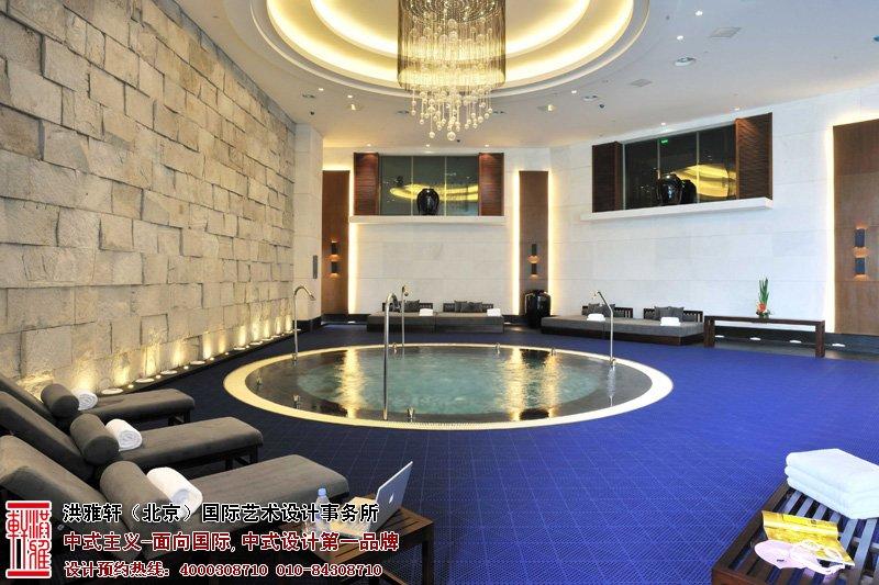 酒店洗浴中式装修图片