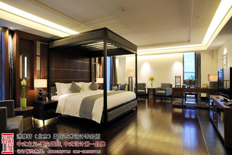 酒店卧室中式装修图片