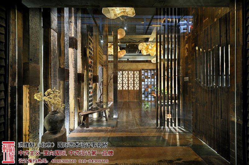 茶楼走廊中式装修图片