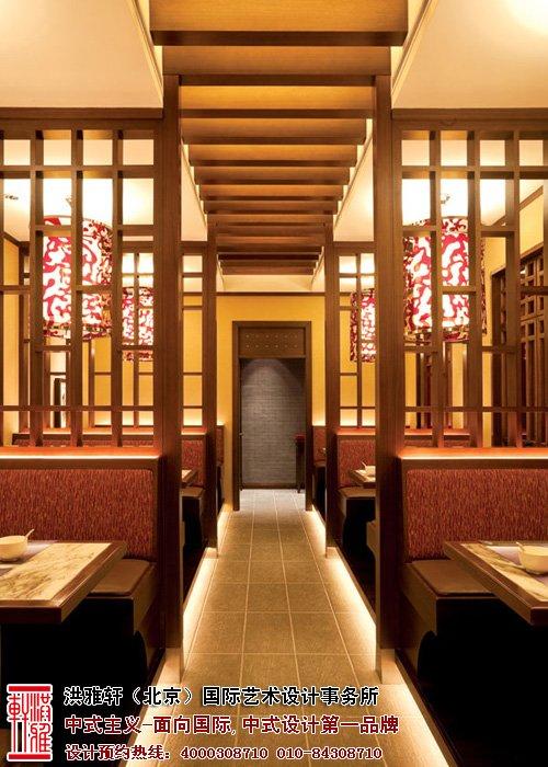 餐厅过道中式装修图片