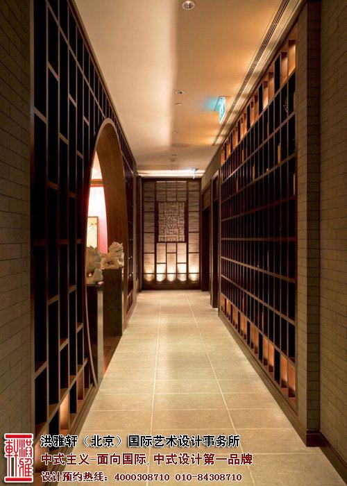餐厅走廊中式装修图片