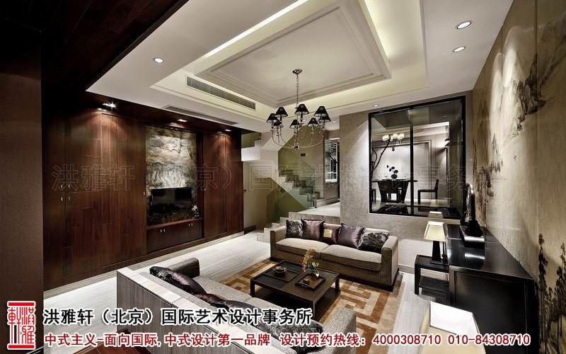 客厅别墅中式装修图片
