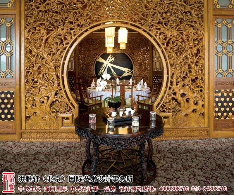 酒店大厅中式装修图片