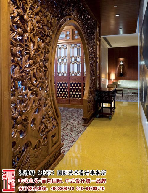 酒店走廊中式装修图片