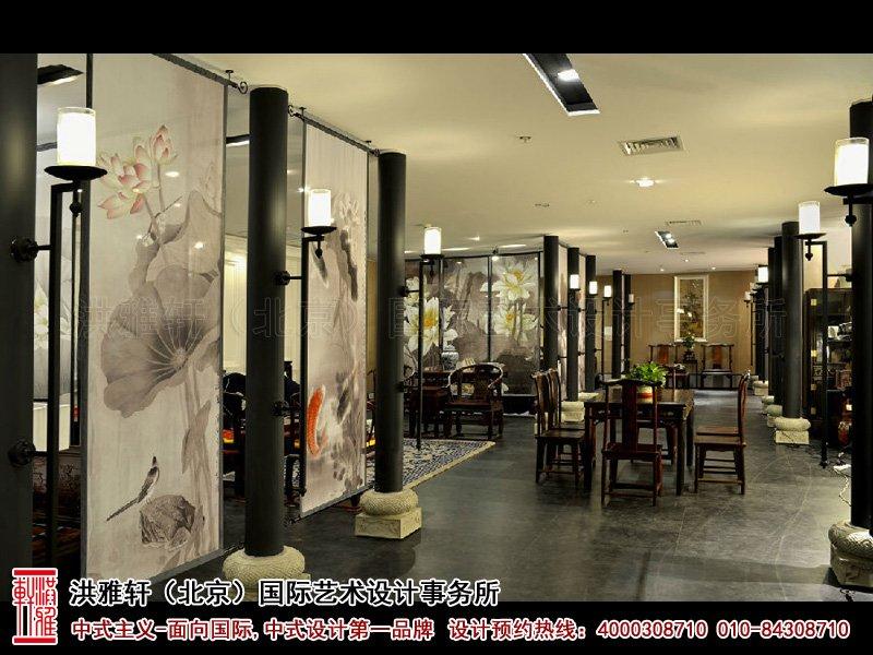 展厅屏风中式装修图片