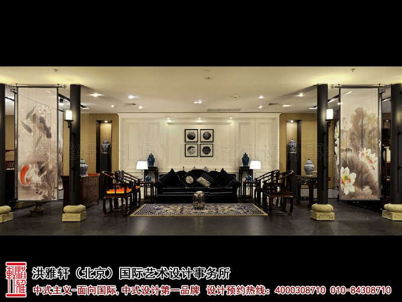 展厅大厅中式装修图片